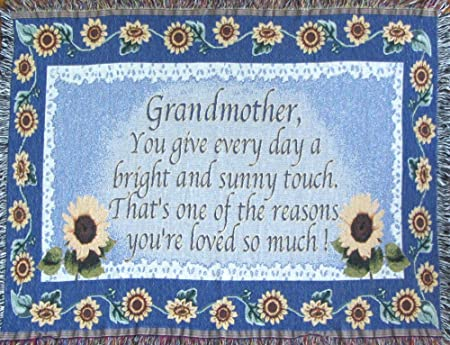 Grandmother Gift Sofa Throw Blanket Gift For Grandma Made In USA Classy Grandmother Throw Blanket
