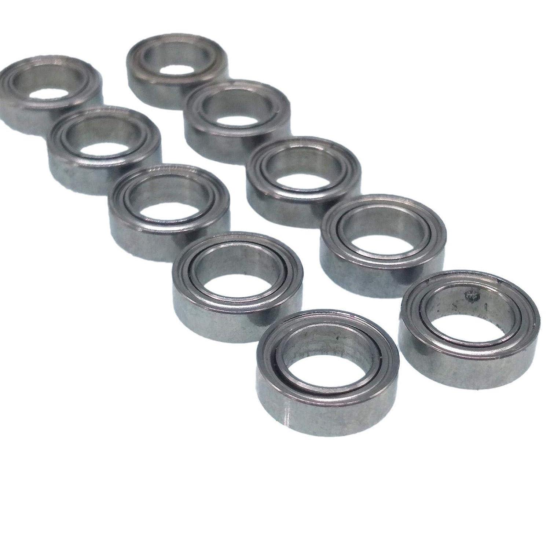 5mm*8mm*2.5mm 10 x MF85zz Mini Metal Double Shielded  Flanged  Ball Bearings