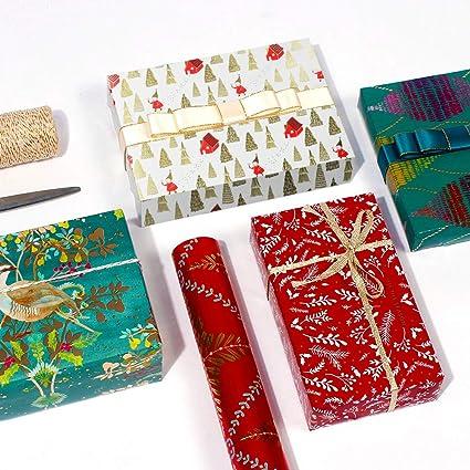 Papel de regalo reciclado y etiquetas 50 x 70 cm, 10 paquetes AmzKoi