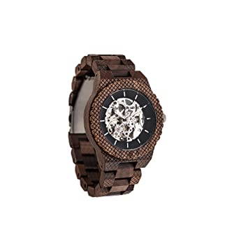 Madera Reloj Hombre | Explorer | Relojes de Madera Natural, Las Oficial Wood Watch Relojes de Madera: Amazon.es: Relojes