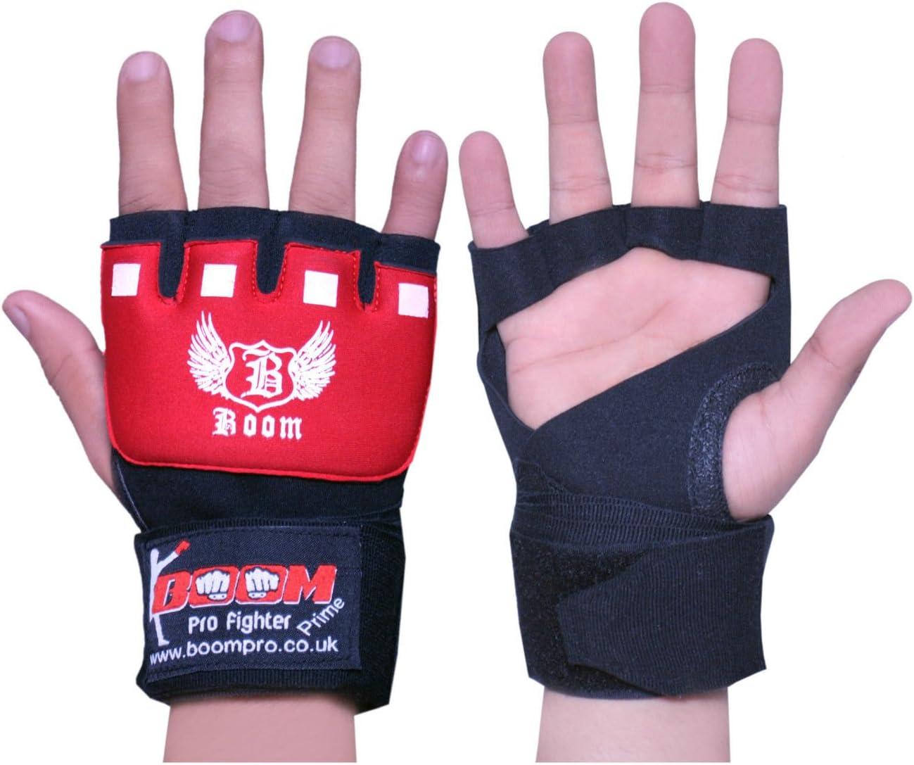 BOOM Prime Boxen Innen Gel Handschuhe Handsch/ützer MMA Faust Schutz Neopren Gepolstert Bandagen Fausthandschuh Knuckle Schutz Training Muay Thai Kickboxen