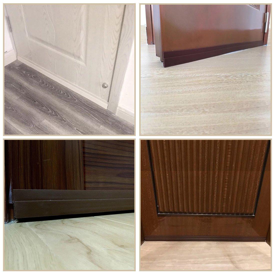 door bottom seal strip under door sweep weather stripping energy money saving 6519526103934 ebay. Black Bedroom Furniture Sets. Home Design Ideas