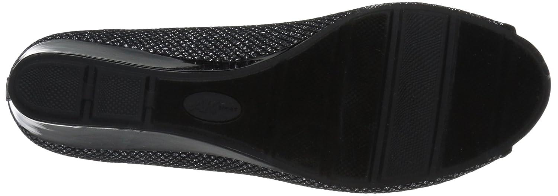 Anne Klein Sport Women's Camrynne Fabric Wedge Pump B073QYNX4G 9 B(M) US Pewter Black/Multi Fabric
