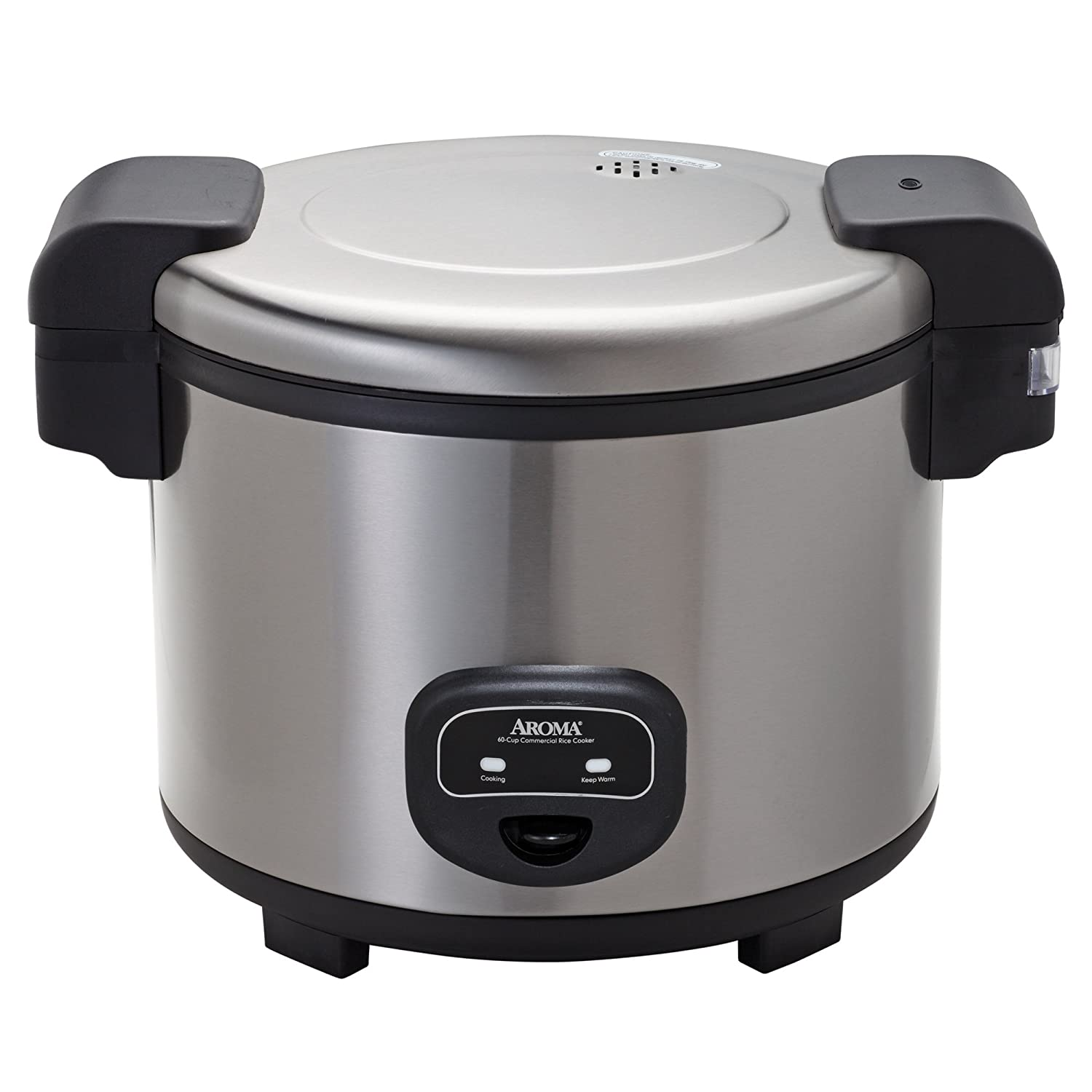 Aroma Housewares 60-Cup (Cooked)(30-Cup UNCOOKED) Commercial Rice Cooker, Stainless Steel Exterior (ARC-1130S)
