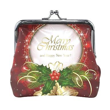 Amazon.com: Monedero con diseño de campana de Navidad, color ...
