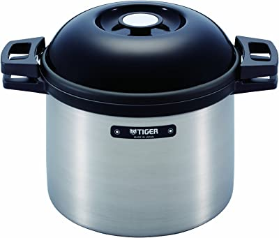 TIGER NFH-G450 Non-Electric Thermal Slow Cooker 4.75qts / 4.5L, Silver (NFH-G450-XS)