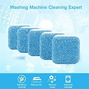 6PCS Washing Machine Tank Cleaning Tablets Effervescent Tablets Cleaner Descaler Deep Effective Cleaning Remover Deodorant Durable