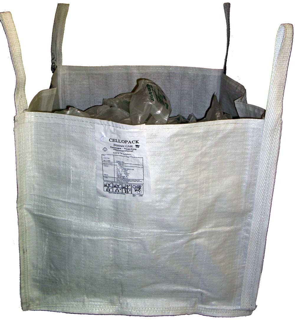 10 Stück Big Bag 500kg 70 x 70 x 65 cm 5:1 Abfallsack Gartensack Transportsack