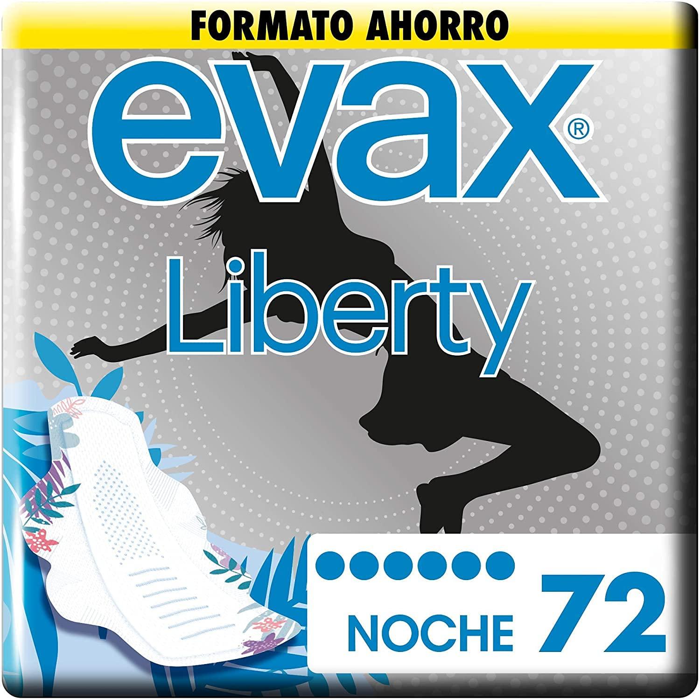 Evax Liberty Noche, Alas x 72 Unidades Una Compresa Que No Notarás