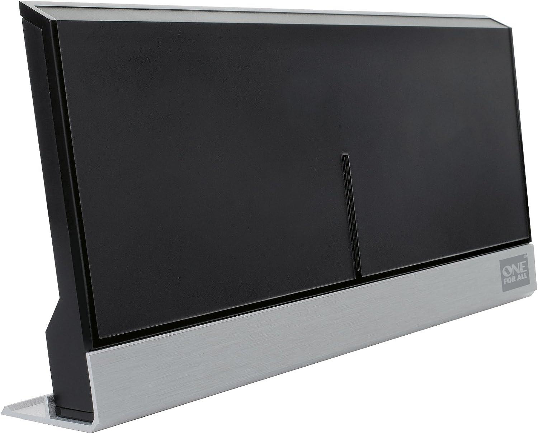 One For All SV 9385 - Antena de Interior para TV (3D, Full HD, 47 dB, DVB-T), Negro