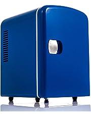 LIVIVO 4L Mini Fridge Cooler. 12V/240V Dual Input, Silent Thermoelectric Running (Blue)
