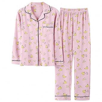 Winter Fashion Women Pajamas Turn-down Collar Sleepwear 2 Two Piece Set Shirt+Long Casual Pajama Set at Amazon Womens Clothing store:
