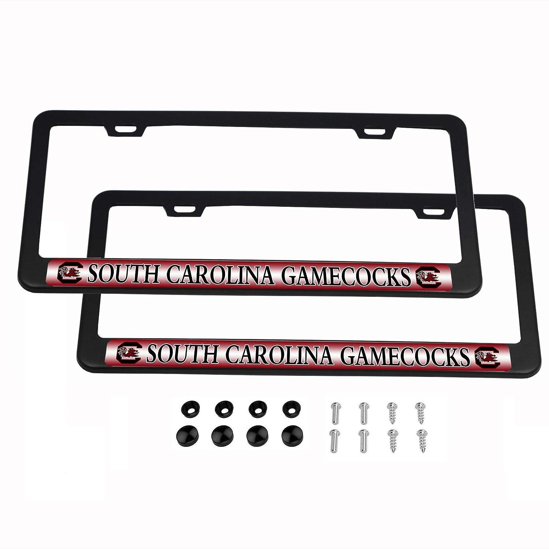 CHNNFC NCAA 2 Pack Aluminum Alloy License Plate Frames in Black