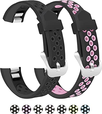 2-Pack Wristband For Fitbit Alta /& Alta HR Silicone Replacement Wrist Band Strap