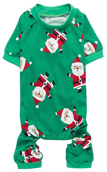 Christmas Pajamas For Dog.Lanyar Christmas Holiday Pet Dogs Pajamas Clothes 100 Cotton Santa Claus Rudolph Reindeer