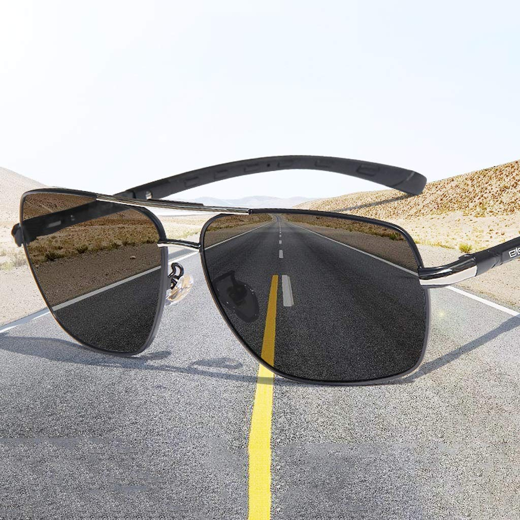 classic Black Fashion sunglasses HJBH Mens Glasses MTB-303 Anti-radiation Intelligent Color-changing Sunglasses Day And Night Driving Glasses Anti-UV Sunglasses To Adapt To Various Environments Bea