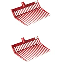 Little Giant DuraFork Polycarbonate Attachable Pitchfork Replacement Head with Angled Tines, Red (2 Pack)