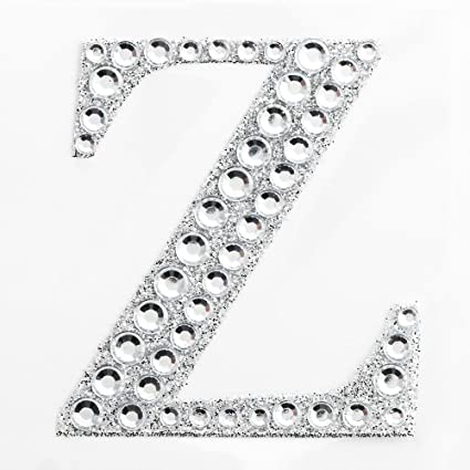 """2/"""" 5cm Large Craft Diamante /& Silver Glitter Stick On Self Adhesive LETTER S"""