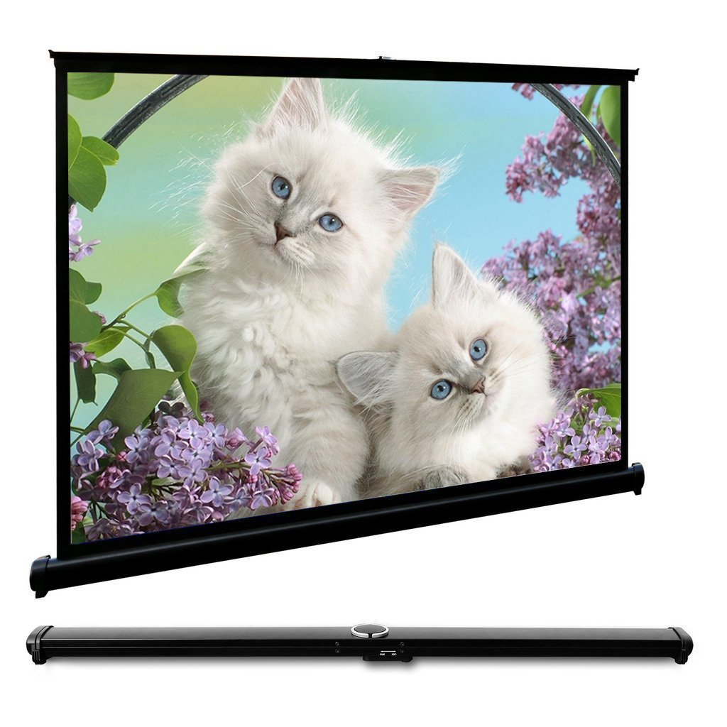 HD Flodable Tabletop 40'' Projection Screen Manual HD Projector Screen 40 inch Diagonal Home Theater Business Presentation Outdoor Indoor