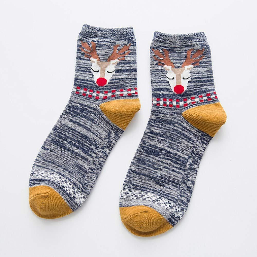 Spriteman Frauen Männer Socken Beiläufig Arbeit Weihnachtselche Tier ...