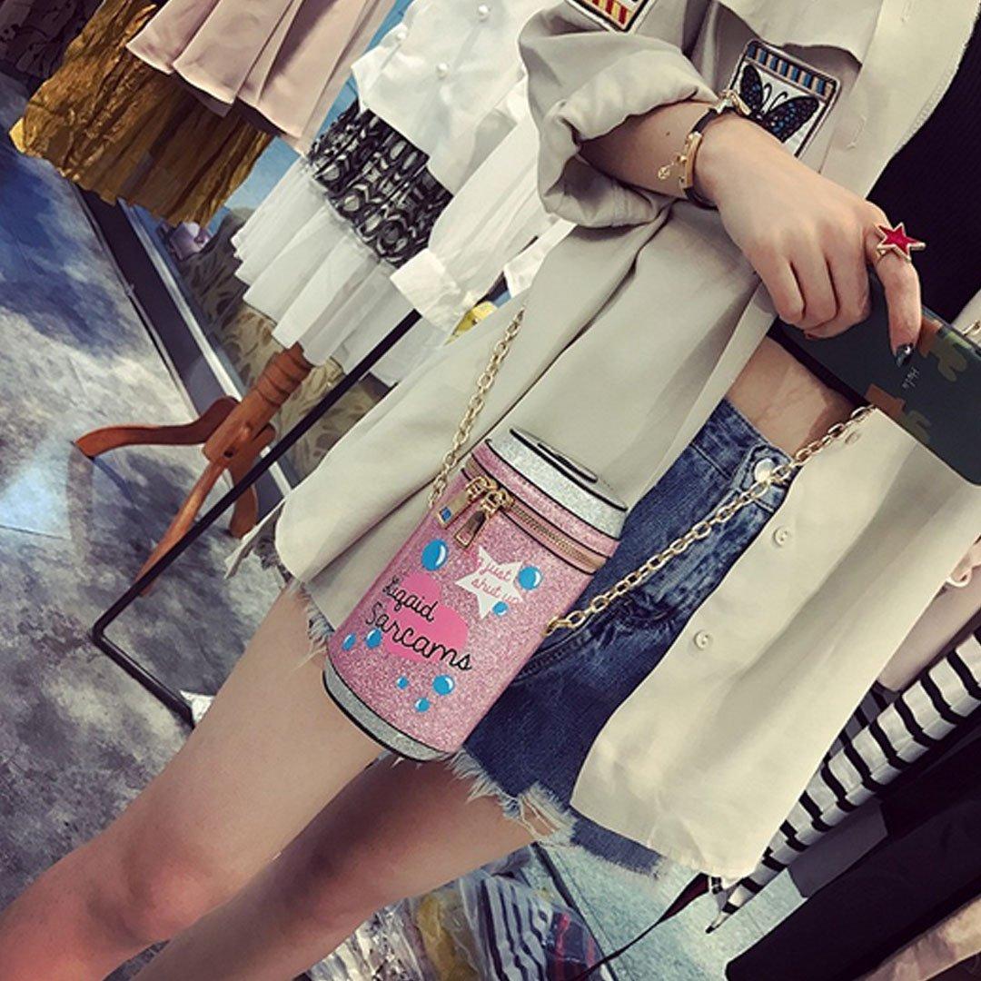 Goodbag Boutique Women Cola Bottle Shape Sparkly Purse Girls Chain Shoulder Bag Crossbody Mini Bucket Purse by Goodbag Boutique (Image #3)