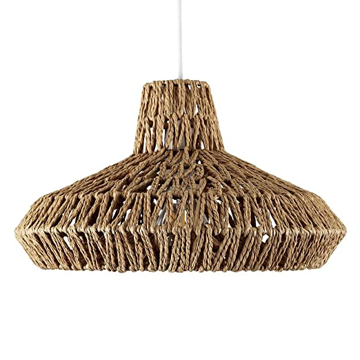 Modern natural woven rope design ceiling pendant light shade amazon modern natural woven rope design ceiling pendant light shade aloadofball Images