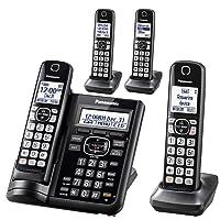 Panasonic Cordless Phone System w/Answering Machine 4 Handsets Deals