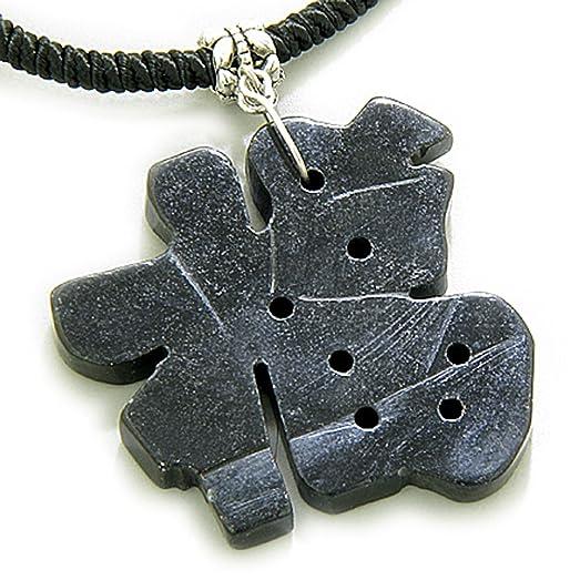 Amazon Good Luck Talisman Lucky Charm Symbol Black Serpentine