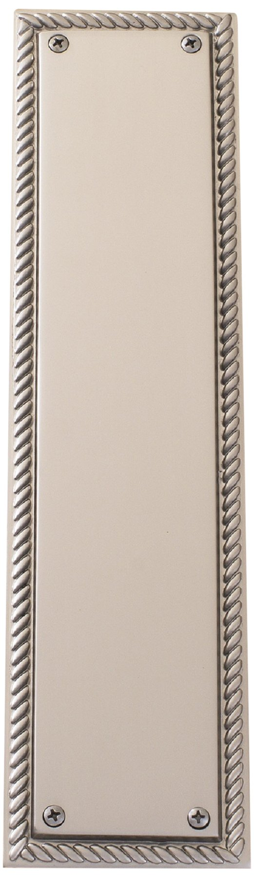 BRASS Accents A06-P0240-619 Academy Push Plate, 3-1/8'' x 12'' Satin Nickel by BRASS Accents (Image #1)