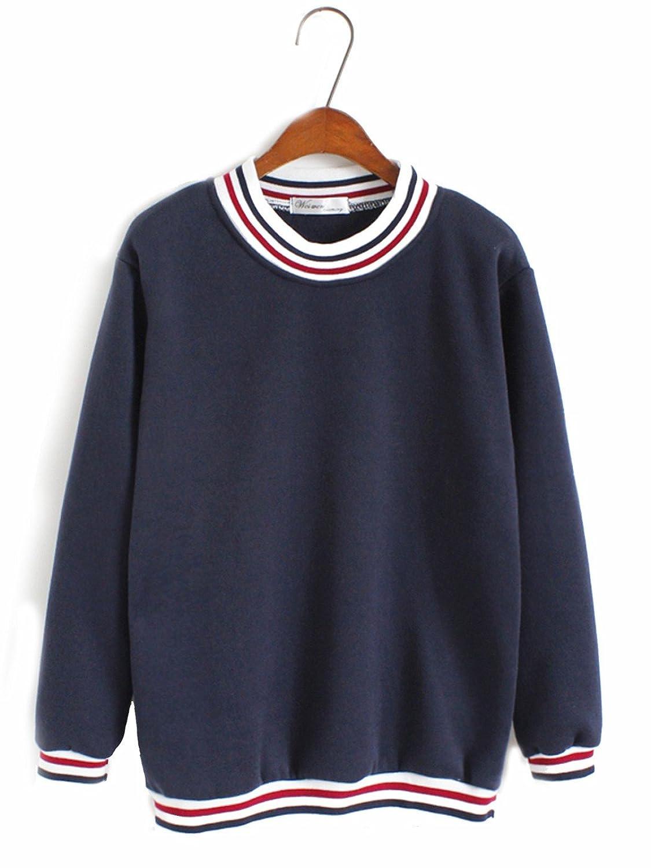 Discount Bestmail Women's Casual Crew Neck Pullover Sweatshirt hot sale
