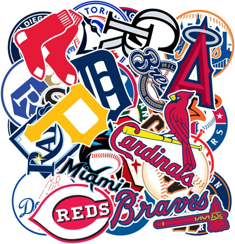 Baseball Sports Laptop Stickers Cool Vinyl Waterproof Skateboard Pad MacBook Car Snowboard Bicycle Luggage Decal 30pcs Pack