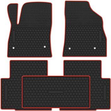 Universal 5pcs Car Floor Mats FloorLiners Black Front Rear Waterproof  Carpet US
