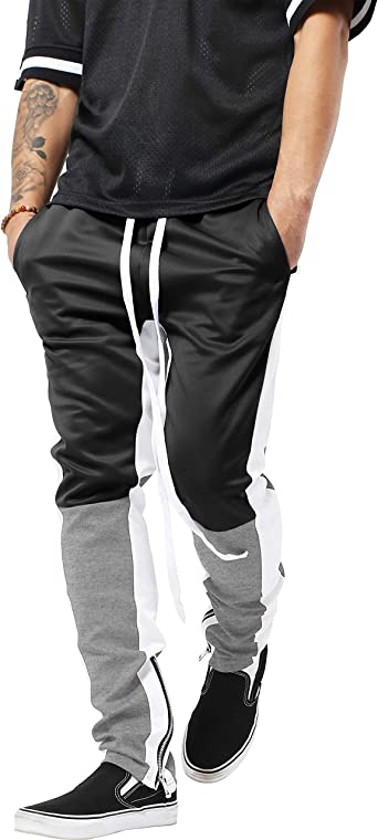 Men Casual Joggers Trousers Skinny Slim Fit Stretch Pants Work Tracksuit Bottoms