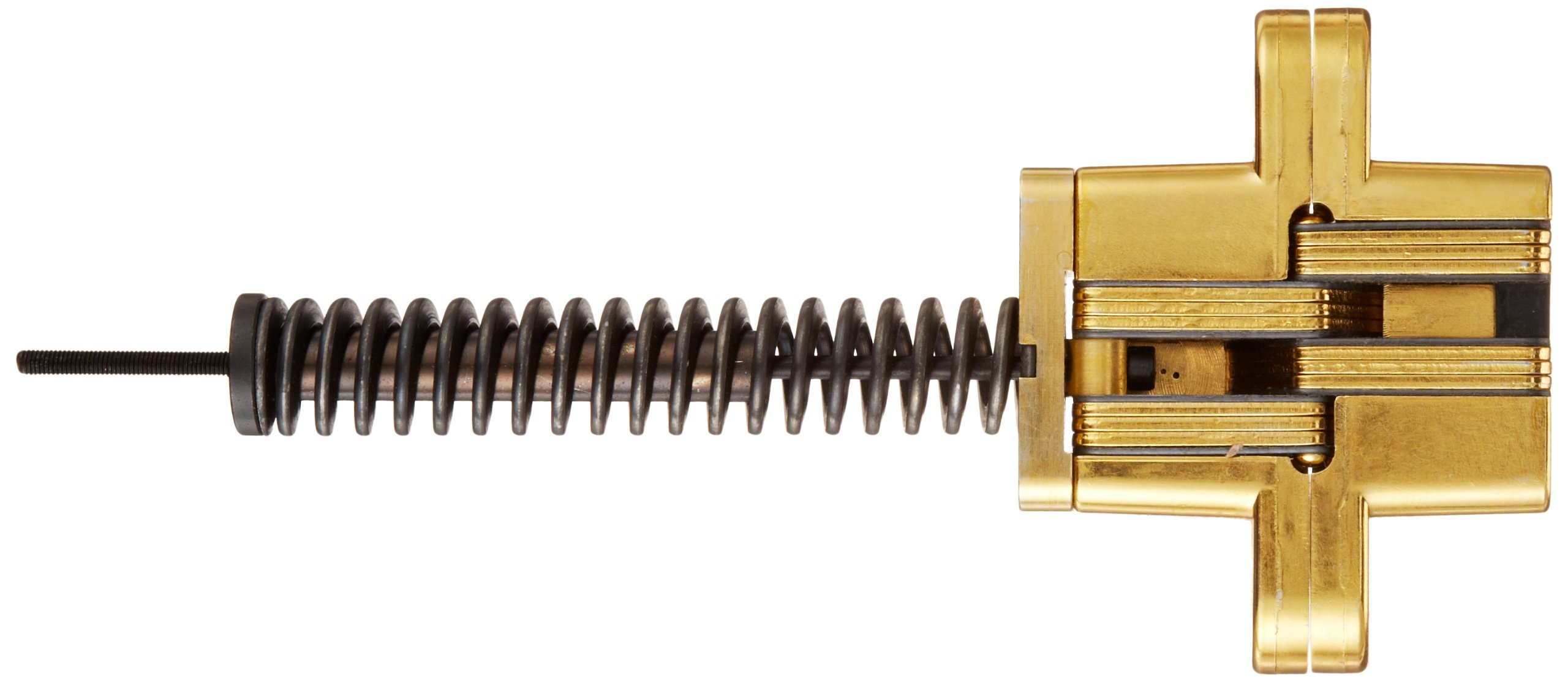 SOSS 218IC Zinc Invisible Spring Closer for 1.75'' Doors, Satin Brass Exterior Finish