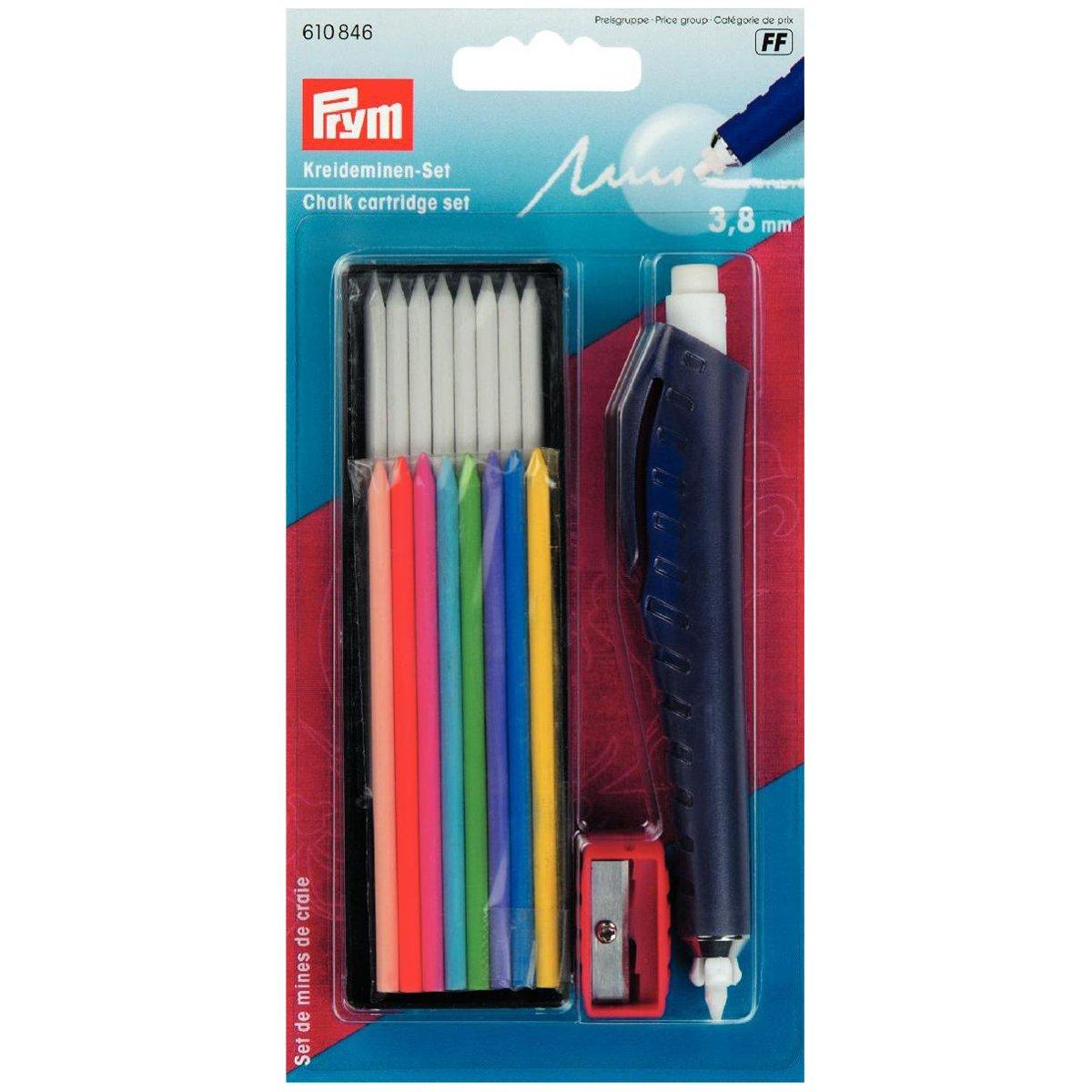 Prym Chalk Set inchiostro per scrittura//evidenziatura e disegno su tessuti//carta//legno//plastica plastica//metallo