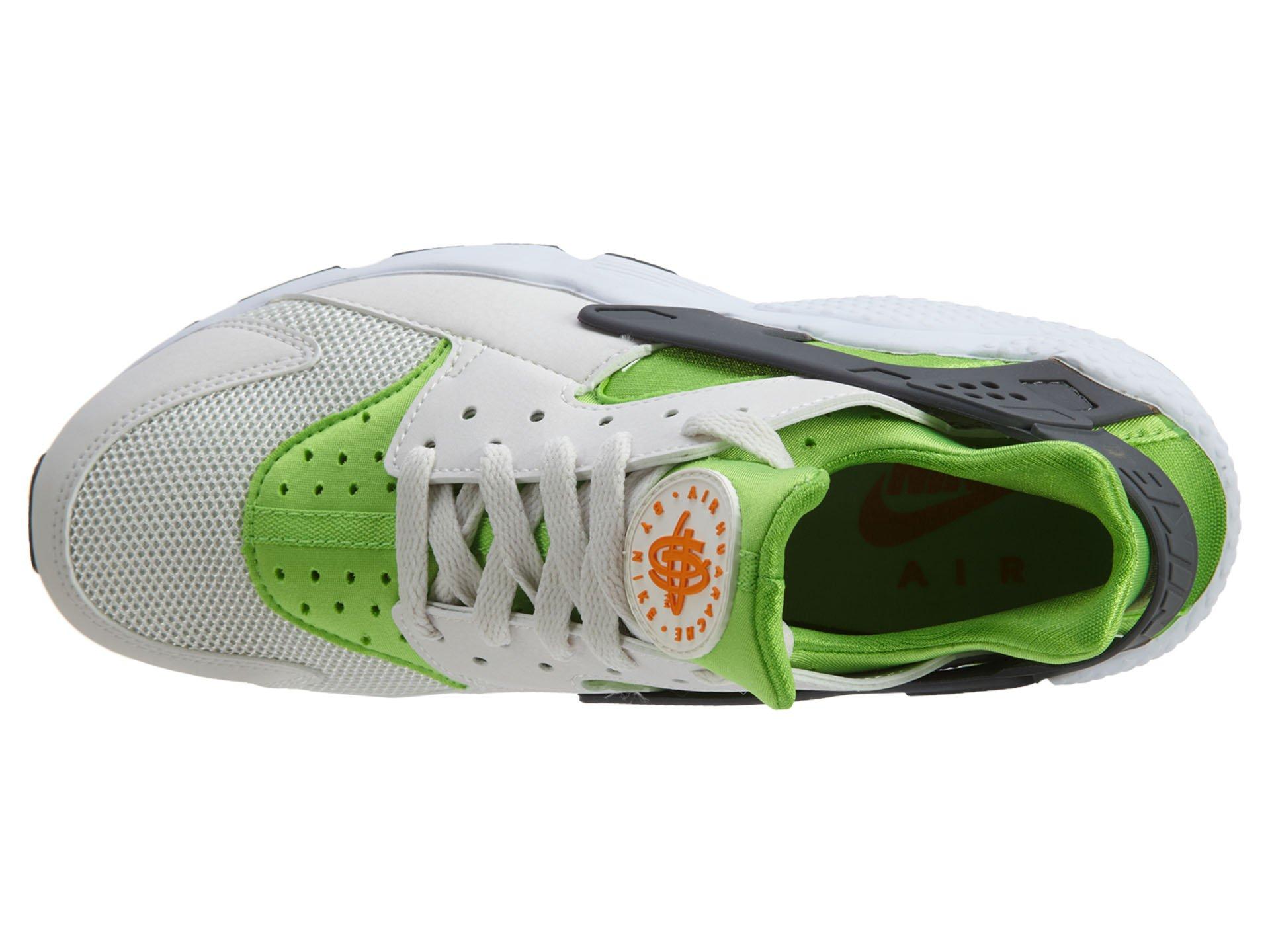 Nike Men's Air Huarache Actn Green/Vvd Orng Phntm Wht Running Shoe 10.5 Men US by NIKE (Image #6)