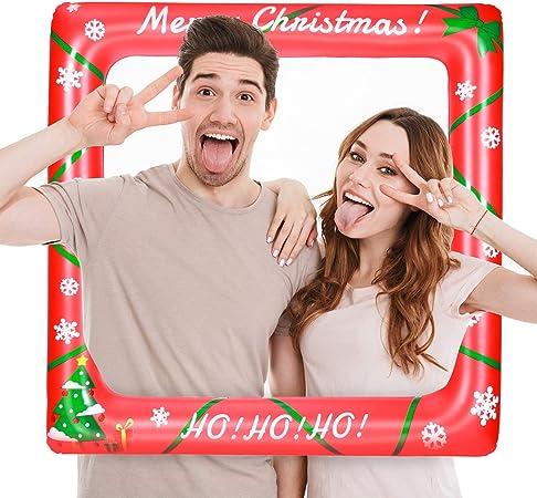 Amazon.com: LUOEM Marco de fotos inflable para Navidad ...