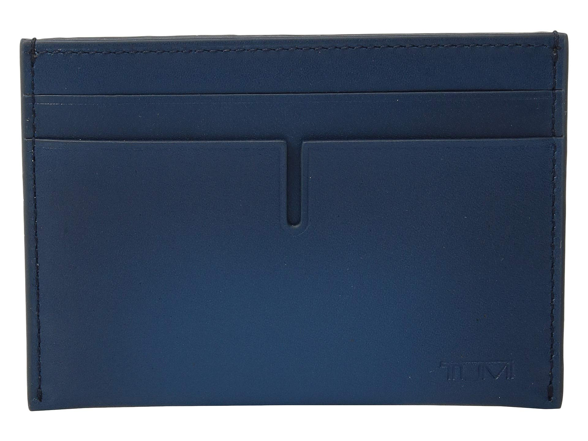 TUMI - Nassau Slim Card Case Wallet with RFID ID Lock for Men - Blue Burnished