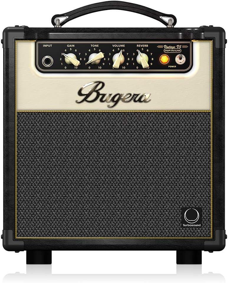 BUGERA V5 5-Watt Class Amplifier Combo with Infinium Tube Life Multiplier Black, (V5INFINIUM)