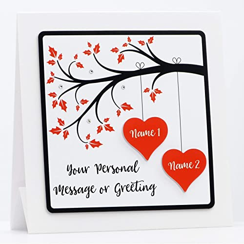 Personalised Handmade Birthday Card Husband Wife Fiance Girlfriend Boyfriend Feesten Speciale Gelegenheden
