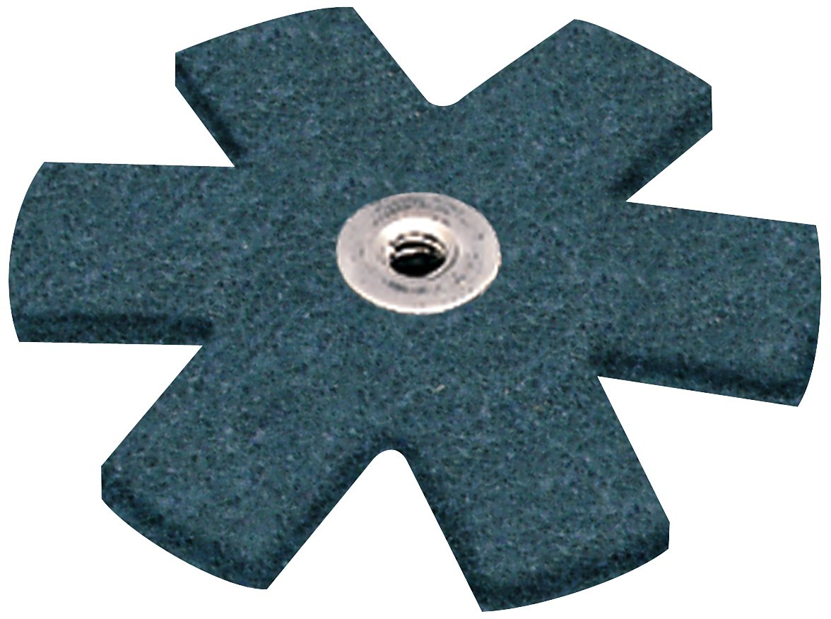 Pack of 100 1-1//2 Diameter Blue Aluminum Oxide 1-1//2 Diameter 3MIA9 048011138008 Scotch-Brite Star Very Fine Grit