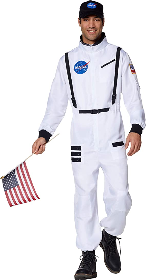 80s Costumes, Outfit Ideas- Girls and Guys Spirit Halloween Adult White NASA Jumpsuit Costume $49.99 AT vintagedancer.com