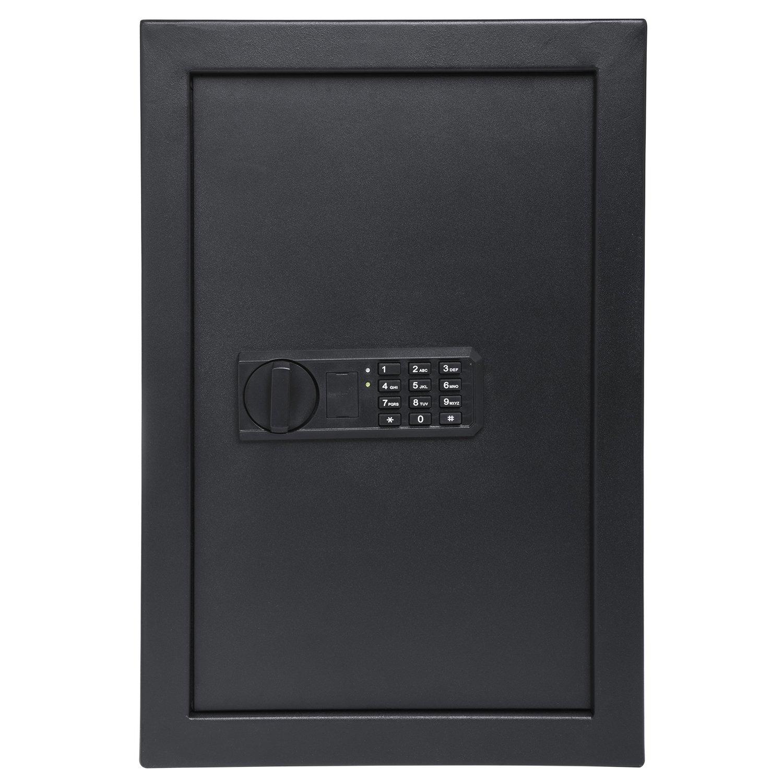 "Ivation Wall Safe, 20.6"" x 13.8"" x 3.7"" Home Security Box, Backup Keys & Mounting Kit (Keypad)"