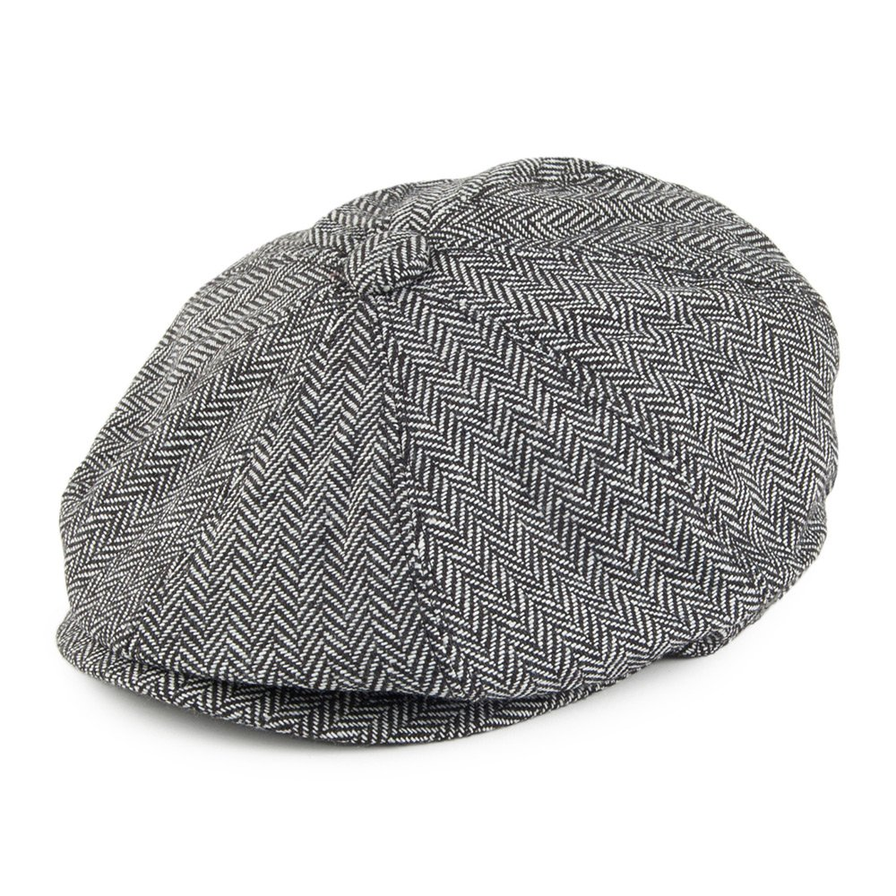 Jaxon & James Herringbone Newsboy Cap - Grey