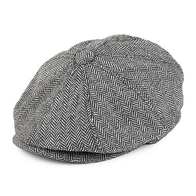 444a7008c13c Jaxon & James Herringbone Newsboy Cap - Grey: Amazon.co.uk: Clothing