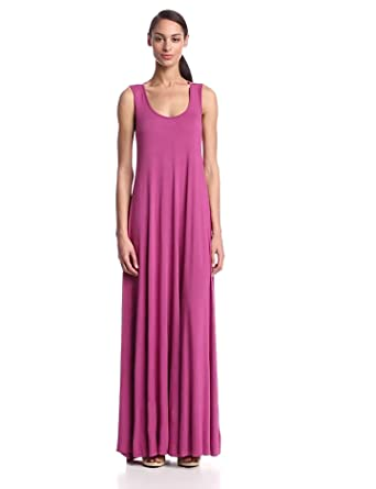 Rachel Pally Women's Penelope Open Back Tank Maxi Dress, Heather, Small