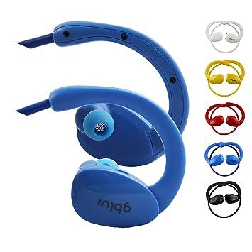 Emartbuy GBlue Azul S80 Estéreo Inalámbrico Bluetooth Deportes Auriculares en Soportes Manos Libres con Micrófono for SPC Pure Sound Touch Android Player: ...