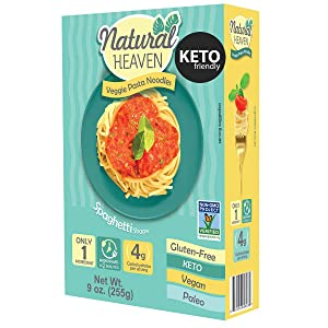 Natural Heaven Spaghetti Hearts of Palm Noodles Substitute - Plant Based, 1 Count 9 oz