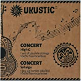 UKUSTIC - Canadian Ukulele Strings Soprano Concert Tenor High-Low G - 100% Clear Fluorocarbon