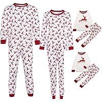 QinMM Conjunto de Pijamas de Navidad Familiar, Tops Camiseta Pantalones para Mujer y Hombre niño bebé (1-10 años), Manga…